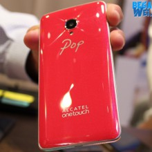 Alcatel Pop Up Red belakang