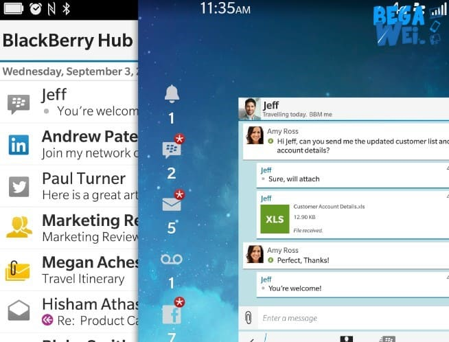 blackberry hub hadir di android