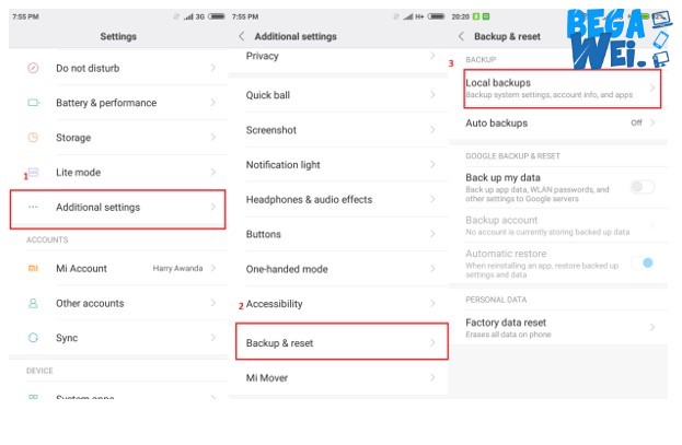 Cara Backup Data Xiaomi